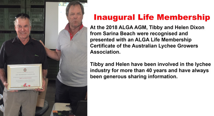 2018 ALGA Life Membership for Tibby and Helen Dixon