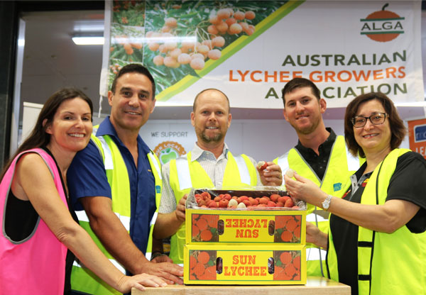 Brisbane Markets lychee auction for charity