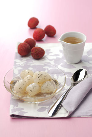Lychees in Vanilla Syrup
